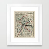 Terminus Map Framed Art Print
