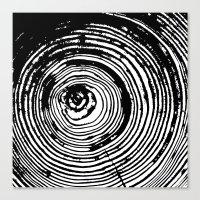 Tree Rings 2 Canvas Print