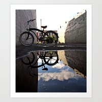 Urban reflection Art Print