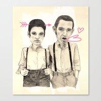 Meet The Valentines Canvas Print
