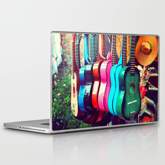 las guitarras. spanish guitars, Los Angeles photograph Laptop & iPad Skin
