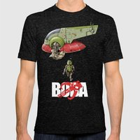 BobAkira  Mens Fitted Tee Tri-Black SMALL
