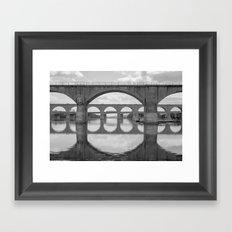 Reflections On The Susqu… Framed Art Print