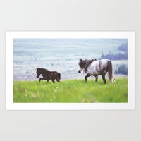Mother & Foal Art Print