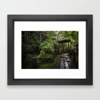 Stoney Path in the Rain Framed Art Print