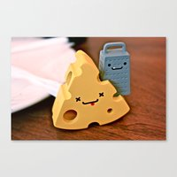 cheese and friends Canvas Print