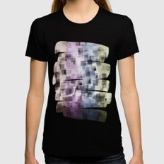 SQUARE PATTERN #2 Womens Fitted Tee Black SMALL