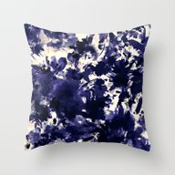 Abstract Floral In Deep … Throw Pillow