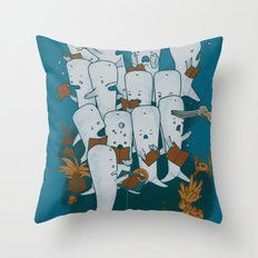 Whale songs Throw Pillow