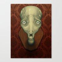 Shocked Alien Canvas Print