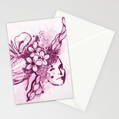 Abstract Head Dress Stationery Cards