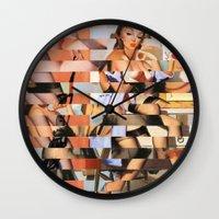 Glitch Pin-Up Redux: Whitney Wall Clock