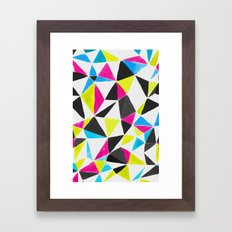 watercolor geometry CMYK Framed Art Print