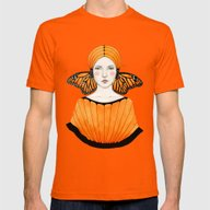 Anais Mens Fitted Tee Orange SMALL