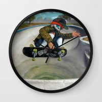 Pool Calavera Wall Clock