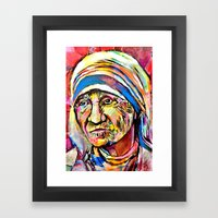 Mother Teresa Framed Art Print