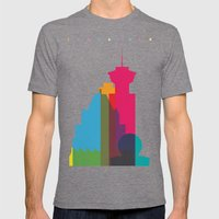 Shapes of Vancouver. Accurate to scale. Mens Fitted Tee Tri-Grey SMALL