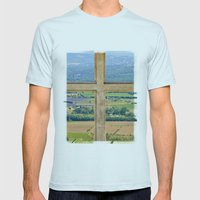 Window To The Luberon Mens Fitted Tee Light Blue SMALL