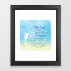 A Dandelion in the Spring Framed Art Print