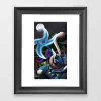 Frog ninja! Water Shuriken! Framed Art Print