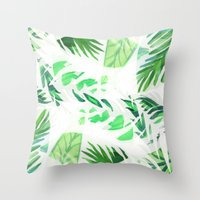 Leaf tropical pattern  Throw Pillow