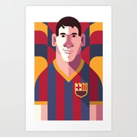 LM10   Blaugrana Art Print