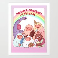 Herbert Sherbert and Friends Art Print
