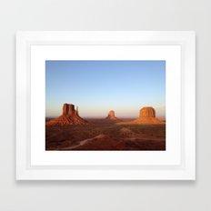 Monument Valley Landscape at Sunset Framed Art Print