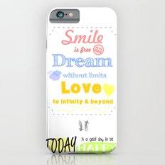 {ENG} SMILE · DREAM · LOVE Slim Case iPhone 6s