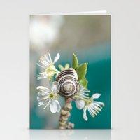 sea snail Stationery Cards