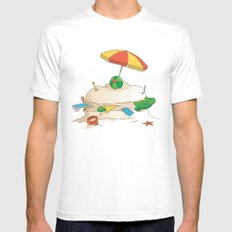 Sandwich SMALL Mens Fitted Tee White