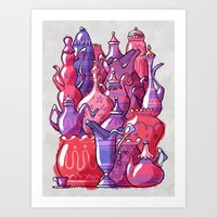 Porcelain Playground Art Print