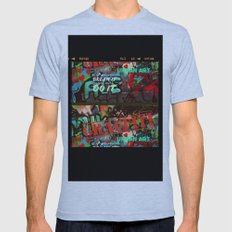 Blue Teal Crimson Red Fa… Mens Fitted Tee Athletic Blue SMALL
