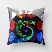 Patchwork swirl Throw Pillow