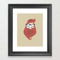 Hipster Framed Art Print