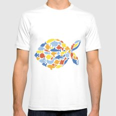 fish of fishes SMALL Mens Fitted Tee White