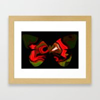 Abstraction butterfly Framed Art Print
