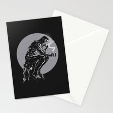 The thinker coffee Stationery Cards