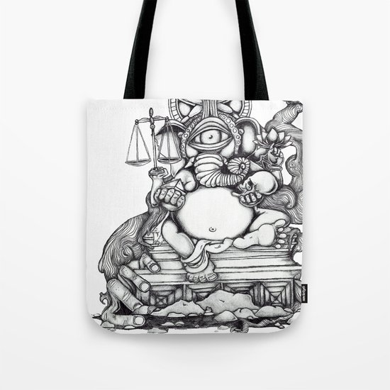 Abstract Ganesh Tote Bag