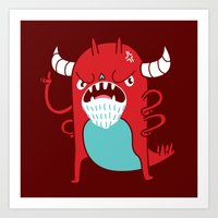 Monster Nagging Art Print