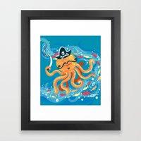 OctoPirate Framed Art Print