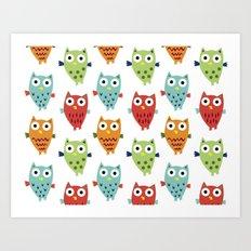 Owl Fun Art Print