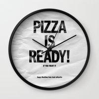 Pizza Is Ready! Wall Clock
