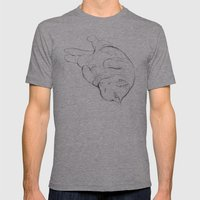 Cat I / Chat I / Gato I Mens Fitted Tee Athletic Grey SMALL