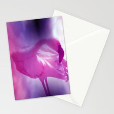 pink flamingo - square format - Stationery Cards