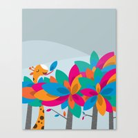 Orange And Trees Canvas Print