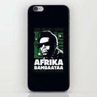 The Mighty Souls: Afrika Bambaataa iPhone & iPod Skin