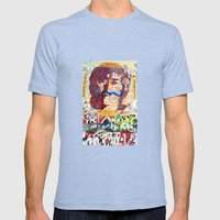 Peace On Earth - Love - … Mens Fitted Tee Tri-Blue SMALL