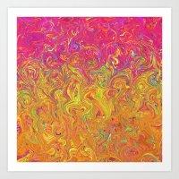 Fluid Colors G262 Art Print