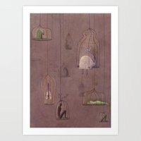Art Print featuring Bestiary by Diana Toledano